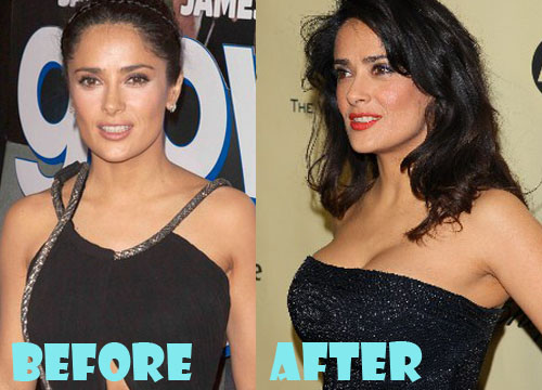 Salma Hayek Bust Improvement Images