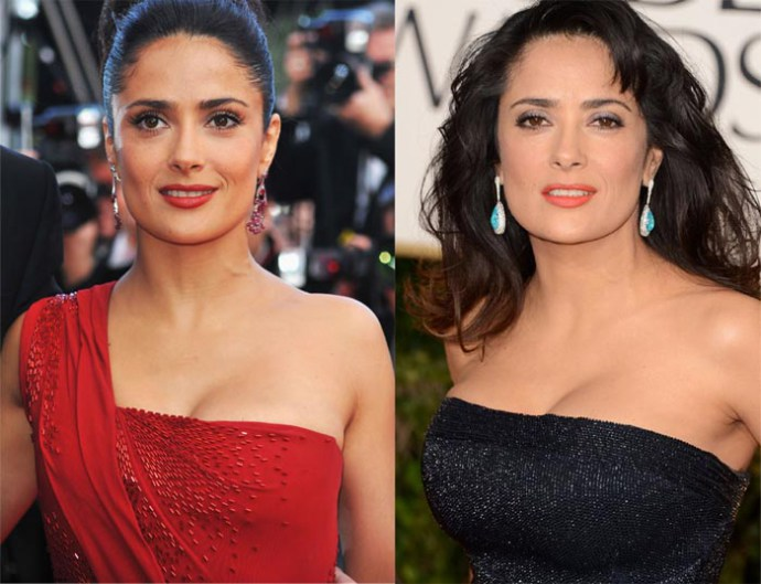 Salma Hayek Boob Job Photos