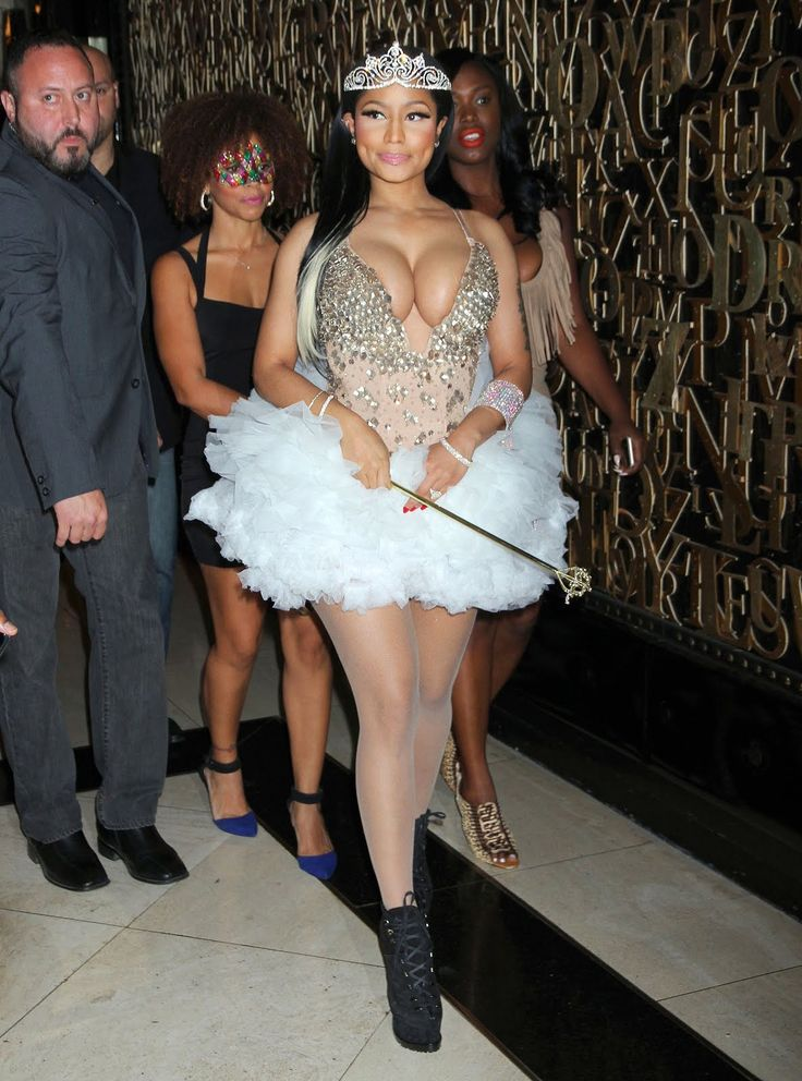 "Nicki Minaj dressed as a rather ""revealing"" fairy princess as she attends a Haunted Fun house Halloween party at 1 OAK Nightclub at The Mirage Hotel & Casino in Las Vegas, Nevada"
