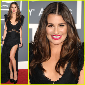 Lea Michele - Grammys 2011 Red Carpet