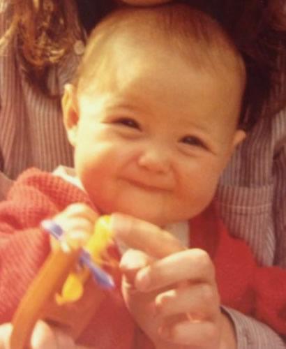 Camillia Luddington as a baby