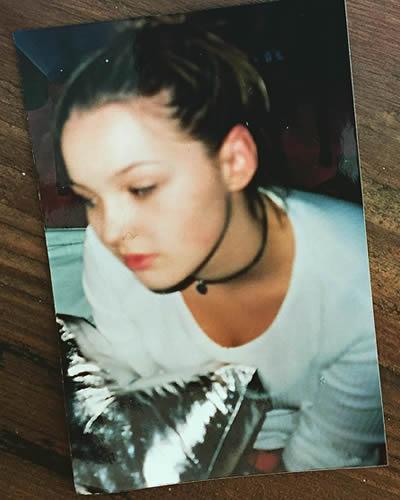 Camilla Luddington as a teen