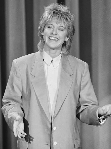 Ellen DeGeneres during the 80s