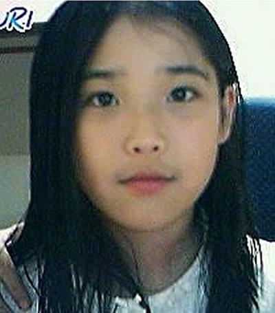 Korean singer IU during her school years