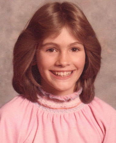 Julia Roberts as a teenager