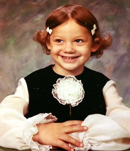 Young Kellyanne Conway as a child
