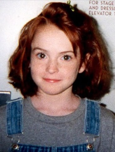 Young Lindsay Lohan during childhood