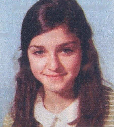 Madonna when she was a teenager.