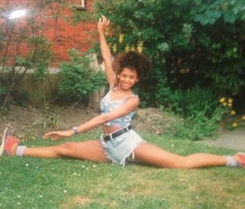 Melanie Brown as a teenager