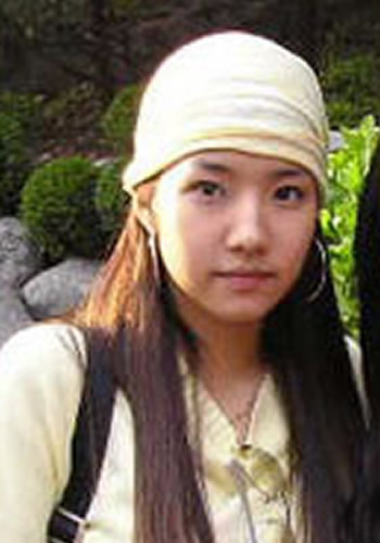 Park Min Young as a teenager