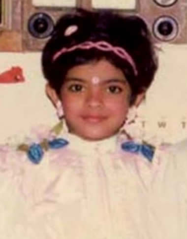 Priyanka Chopra in her childhood
