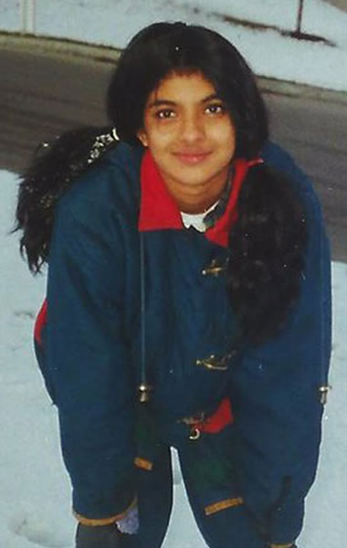 Priyanka Chopra as a teen