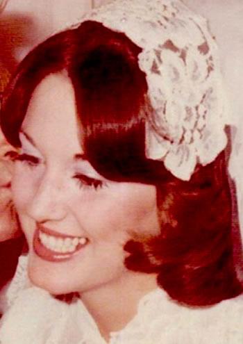 Robin Mcgraw in 1976 - Big Wedding Day!